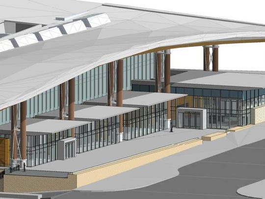 This rendering shows a proposed new registration area