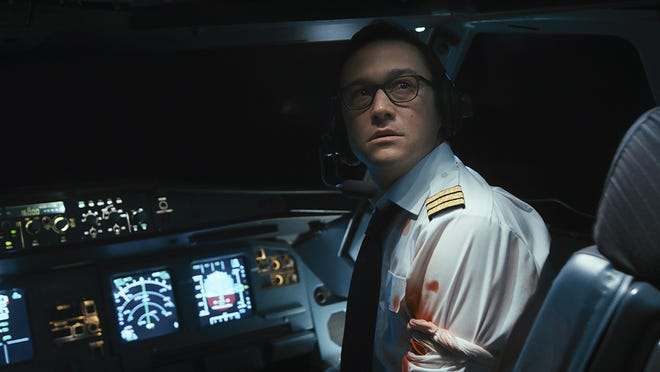 "Joseph Gordon-Levitt in a scene from the tense hijack thriller, ""7500."""