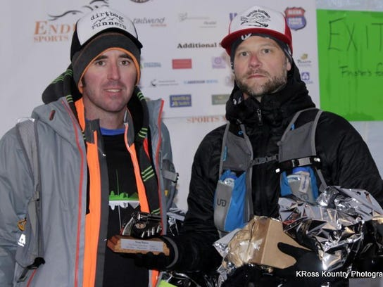 Dan McGuire (left) and Jason Jones of Canton proudly