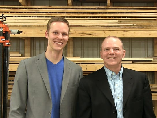 Josh, left, and Jerry Battis of JB Home Improvers built