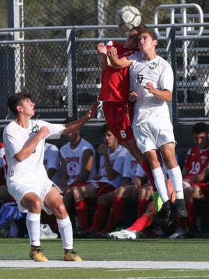 Somers defeated Brewster 1-0 in a boys soccer game at Brewster High School Sept. 27, 2017.
