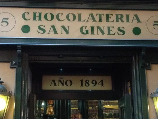At the famous San Gines Chocolateria in Madrid, Spain, the meeting of churros and chocolate is divine.