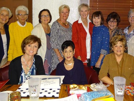 SURPRISE BIRTHDAY - A dozen friends gathered for lunch