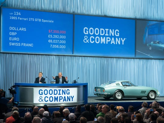 Gooding & Company sold a 1965 Ferrari 275 GTB Speciale