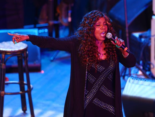Singer Gloria Gaynor sings 'I Will Survive' after receiving