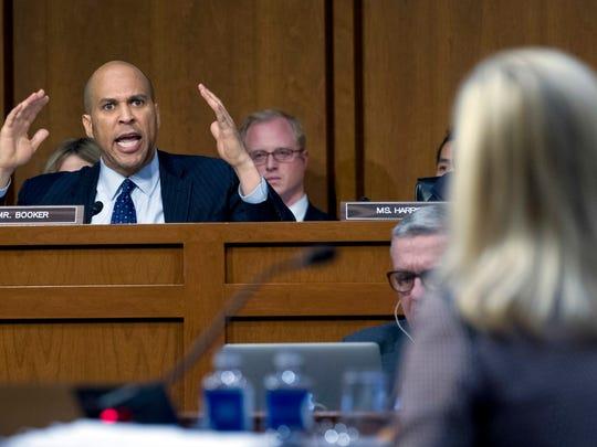 Sen. Cory Booker, D-N.J., questions Homeland Security