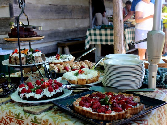 The weekly Wednesday picnic at The Swag is open not only to resort guests, but Waynesville area visitors as well. The feast, served in an al fresco buffet, is a treasure trove of divine options. A gazebo and aged Adirondack-style chairs offer views of forever.