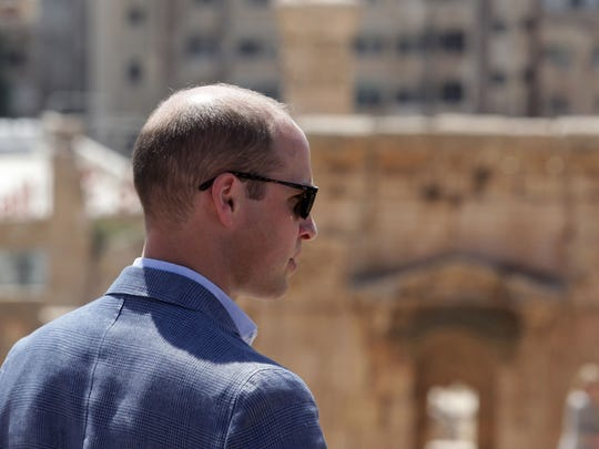 Prince William visits the Jerash archaeological ruins