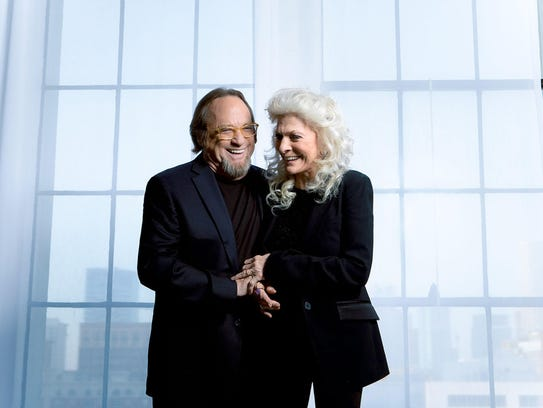 Folk-rock legends Stephen Stills and Judy Collins teamed