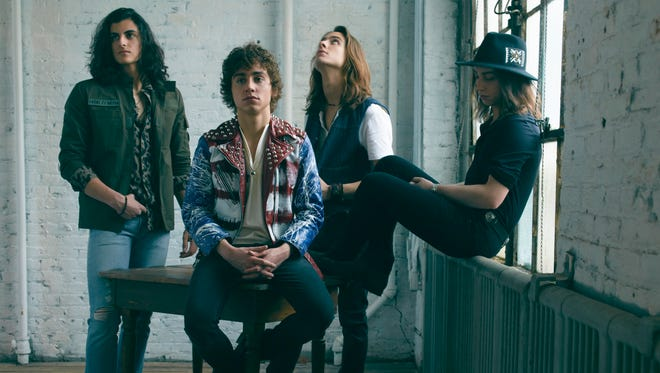 Greta Van Fleet: (from left) Danny Wagner (drums), Josh Kiszka (vocals), Sam Kiszka (bass, keyboards), Jake Kiszka (guitars)