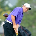 Fort Collins High School golfer Hunter Paugh, shown last season, is in first play at the Class 5A state golf tournament after shooting two strokes under par.