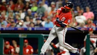 Juan Soto hit a solo home run in the 10th inning, his second of the game, to lead the Washington Nationals to a 7-6 win over the Philadelphia Phillies and a doubleheader sweep