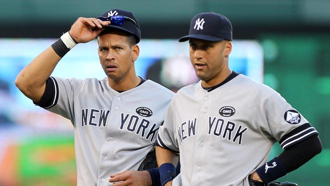 Alex Rodriguez and Derek Jeter played 10 seasons together with the Yankees.