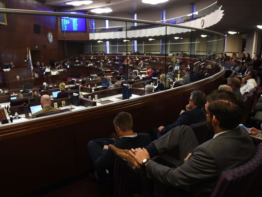 The Assembly is seen in session at the Nevada State
