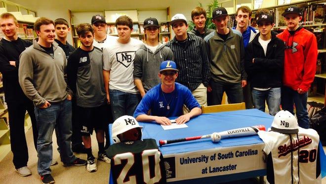 North Buncombe baseball player Ryan Rickey has signed to play college baseball for South Carolina Lancaster.