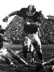 "Bill ""Earthquake"" Enyart gained 299 yards rushing against Utah in 1968, a single-game record for Oregon State that still stands."