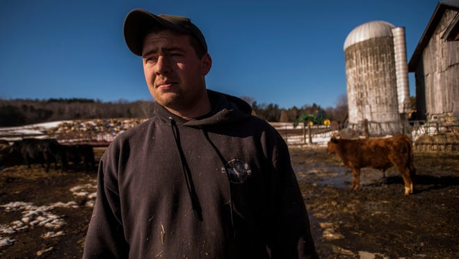 Dylan Preston, 25, has been in the hay and beef business since he was old enough to drive.
