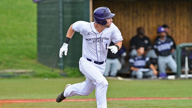 Northwestern State's David Fry had two hits in Sunday's game.