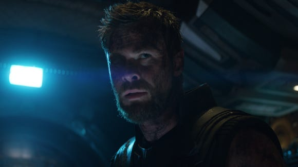 "Thor (Chris Hemsworth) in ""Avengers: Infinity War."""
