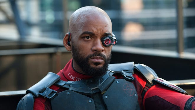 "This image released by Warner Bros. Pictures shows Will Smith in a scene from, ""Suicide Squad."" (Clay Enos/Warner Bros. Pictures via AP)"