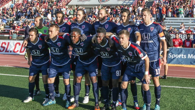 The Indy Eleven's match Saturday against the Jacksonville Armada has been postponed because of Hurricane Matthew.
