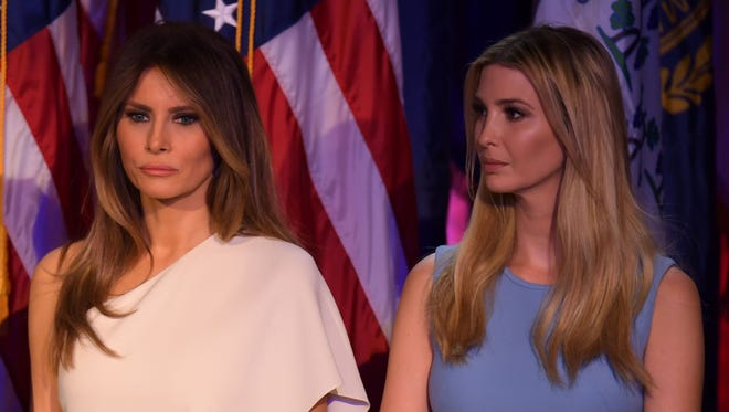 Melania and  Ivanka Trump look in New York on Nov. 9, 2016.
