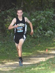Nanuet's Ryan Guerci rounds the final stretch during