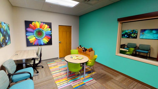 The Play Therapy Room is among colorful settings where children and families can receive mental health treatment at the new Solvista Child and Family Behavioral Health Center in Canon City.