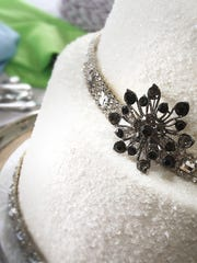 A grandmother's brooch is used as a decorative accent