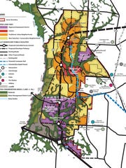 A map of the Escambia County Sector Plan.