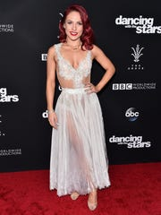 "Dancer Sharna Burgess attends ABC's ""Dancing With The Stars"" Season 23 Finale at The Grove on Nov. 22 in Los Angeles, California."