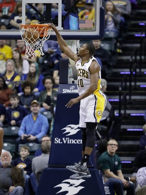 Indiana Pacers' Glenn Robinson III will be taking part in the Slam-Dunk contest.