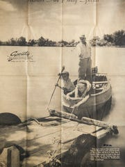 A photo from the June 20, 1954, edition of the Standard-Times shows Malcolm Guy McBurnett (left), 6, and his brother, Jerry, 7, with their father Malcolm C. McBurnett on a fishing trip.