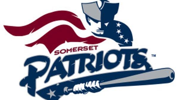 Somerset Patriots Logo on White