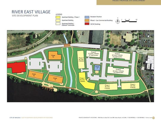 Above are the site plans for the River East Village,
