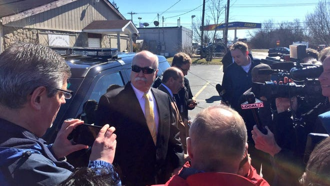 Butler County Sheriff Richard K. Jones addresses media following a Monday morning school shooting.