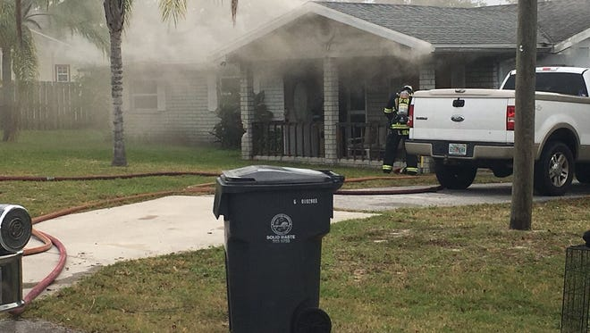 The Titusville Fire Department responded to a fire Tuesday morning on Highland Terrace.