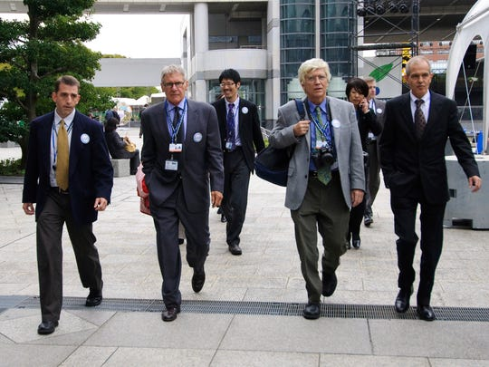 Actor, environmentalist, and Conservation International (CI) Vice Chairman Harrison Ford tours the COP10 Convention on Biological Diodiversity venue in Nagoya, Japan