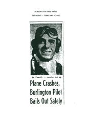 Feb. 7, 1952, story in the Free Press about a crash in which the pilot bailed out.