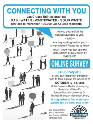 The 2015 survey was promoted through the October utility bill, encouraging customers to respond through the online survey, or at one of the four face-to-face survey locations the weekend of Oct. 17-18.