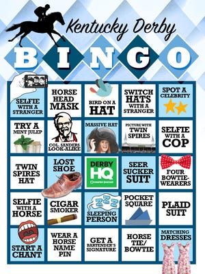 Play Derby Bingo at Kentucky Derby 2016.