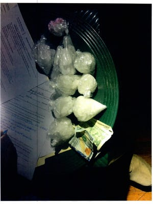 Drugs recovered in a Monday night bust