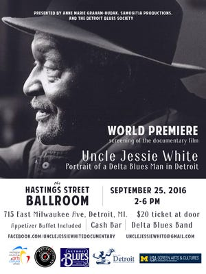 A documentary about Detroit blues musician Uncle Jessie White is set for screen.