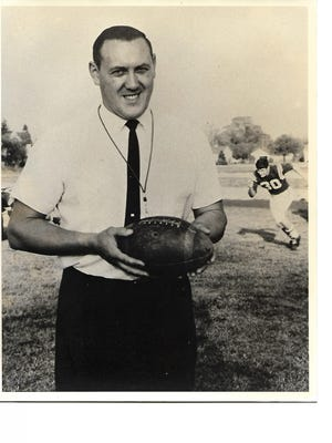 Former Marion Catholic football coach Max Ross helped lead the Irish to a pair of wire service Class A state championships in 1965 and 1966.