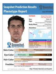Tempe police used a predictive DNA technology to generate