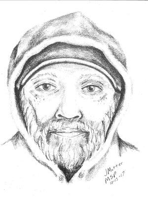 A sketch of a man warning Redford Township residents to watch out for after he grabbed a boy's wrist as he walked to school the week of Oct. 12, 2017.