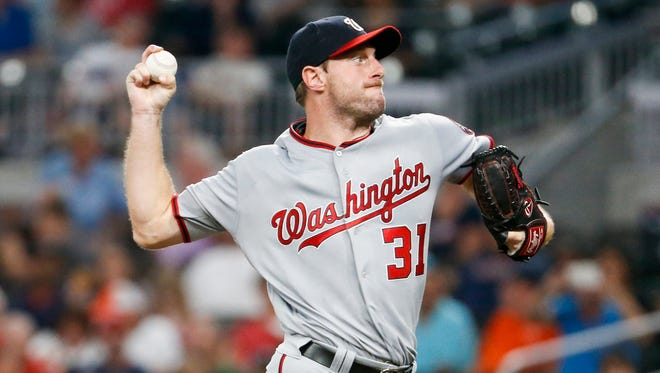 Max Scherzer reached 250 strikeouts for the fourth straight season.