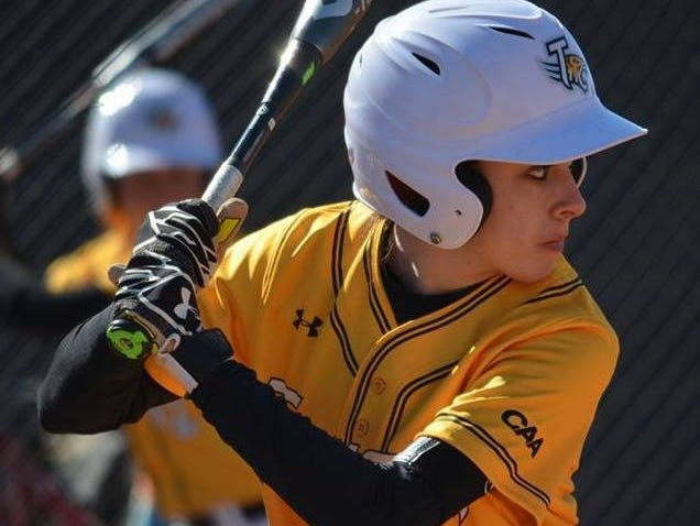 La Quinta graduate Kendyl Scott eyes a pitch as a sophomore at Towson University in Maryland.