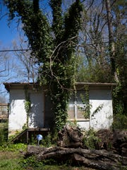 A property at 133 Cole Circle near Anderson that's scheduled to be demolished.
