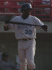 In this 2006 photo, Cameron Maybin of the West Michigan Whitecaps gets ready to bat at Battle Creek's C.O. Brown Stadium.